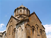 Gandzasar's Cathedral of St. John the Baptist from south-east, Artsakh.