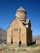 Chapel of the Holy Mother of God in Areni (built in 1321) with Gandzasar-style umbrella-shaped roof.