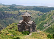 The temple of Amberd, Armenia.