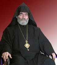 His Beatitude Archbishop Pargev, head of the Artsakh Diocese of the Armenian Apostolic Church.