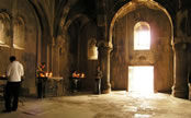 Gavit (narthex) of the Gandzasar Monastery.